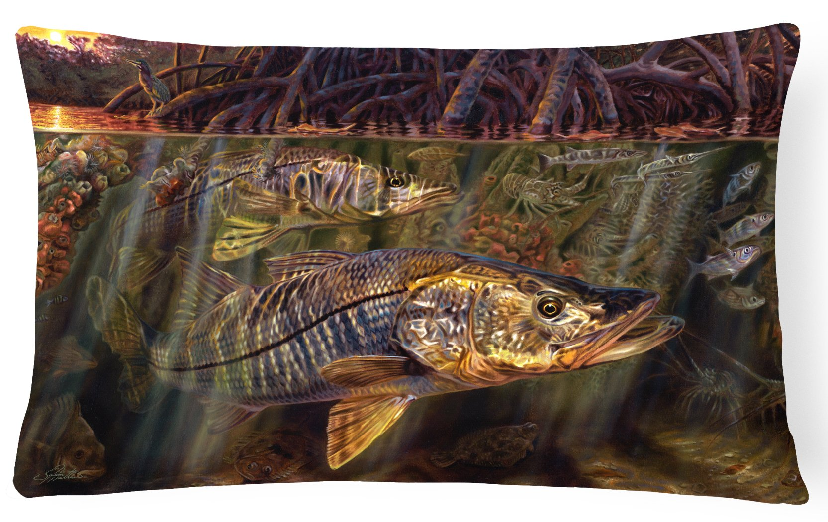 Buy this Grove Garden Snook Canvas Fabric Decorative Pillow JMA2004PW1216