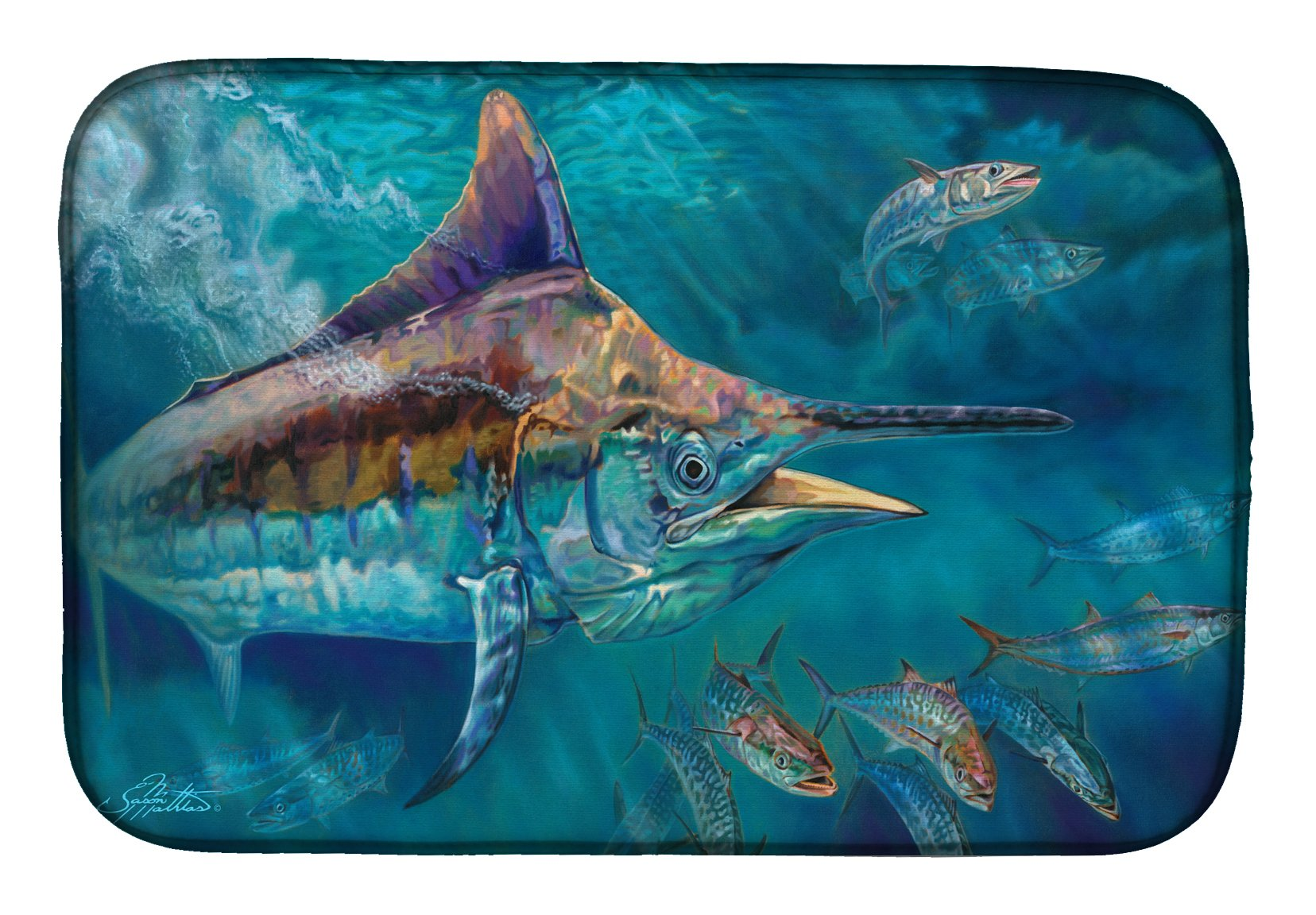 Buy this Liquid Metal Black Marlin Dish Drying Mat JMA2005DDM