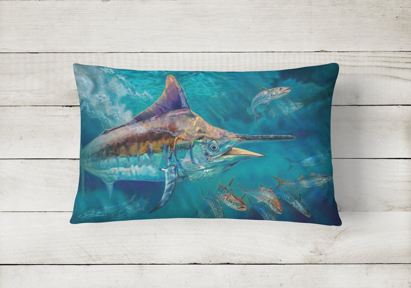 Buy this Liquid Metal Black Marlin Canvas Fabric Decorative Pillow JMA2005PW1216