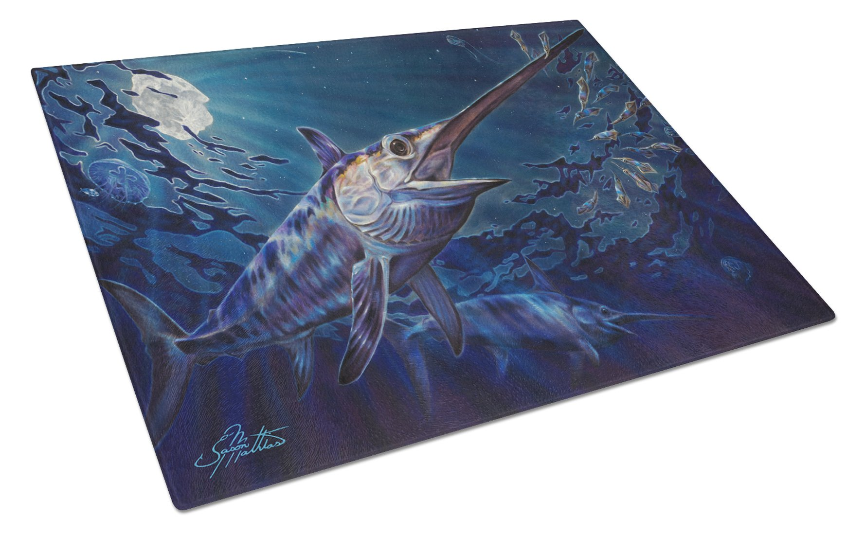 Buy this Prince Of Darkness Swordfish Glass Cutting Board Large JMA2006LCB
