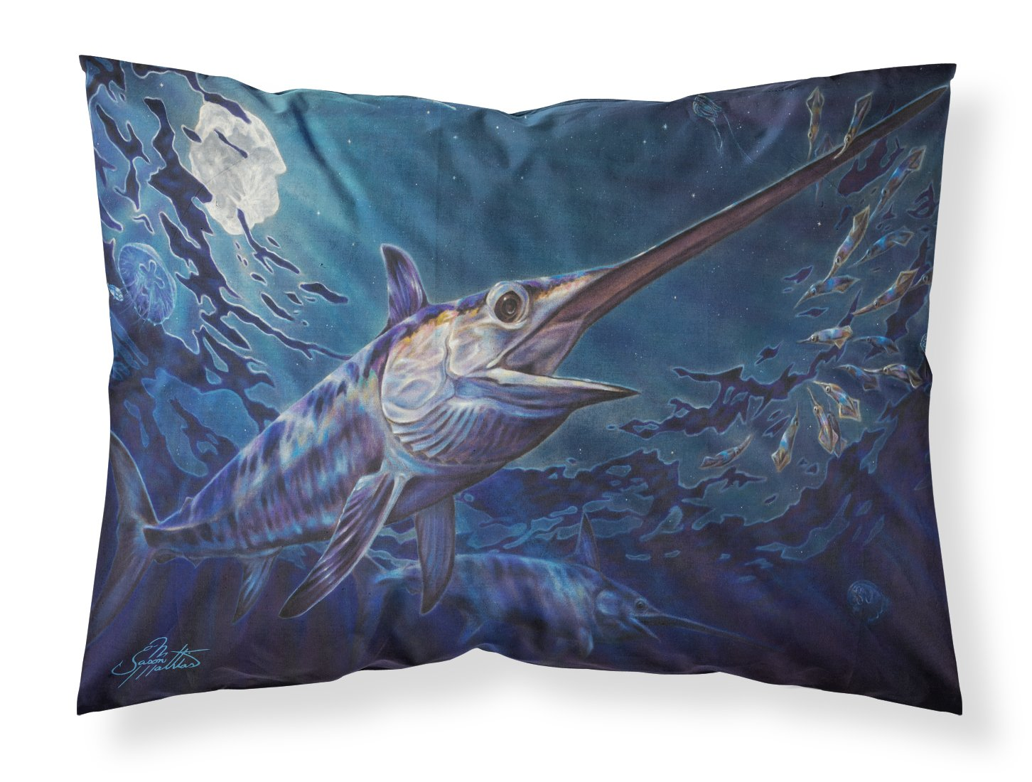 Prince Of Darkness Swordfish Fabric Standard Pillowcase JMA2006PILLOWCASE by Caroline's Treasures