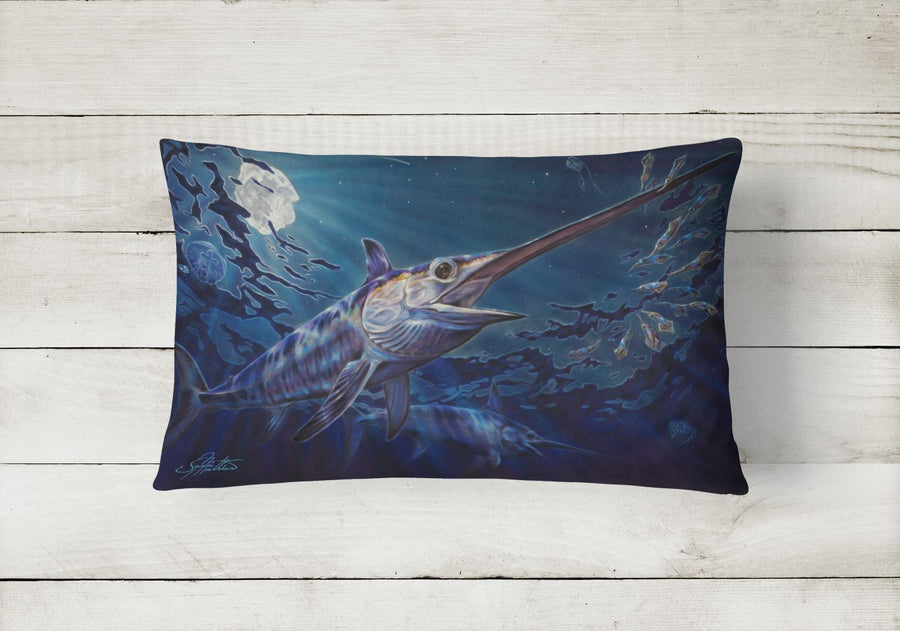 Buy this Prince Of Darkness Swordfish Canvas Fabric Decorative Pillow JMA2006PW1216