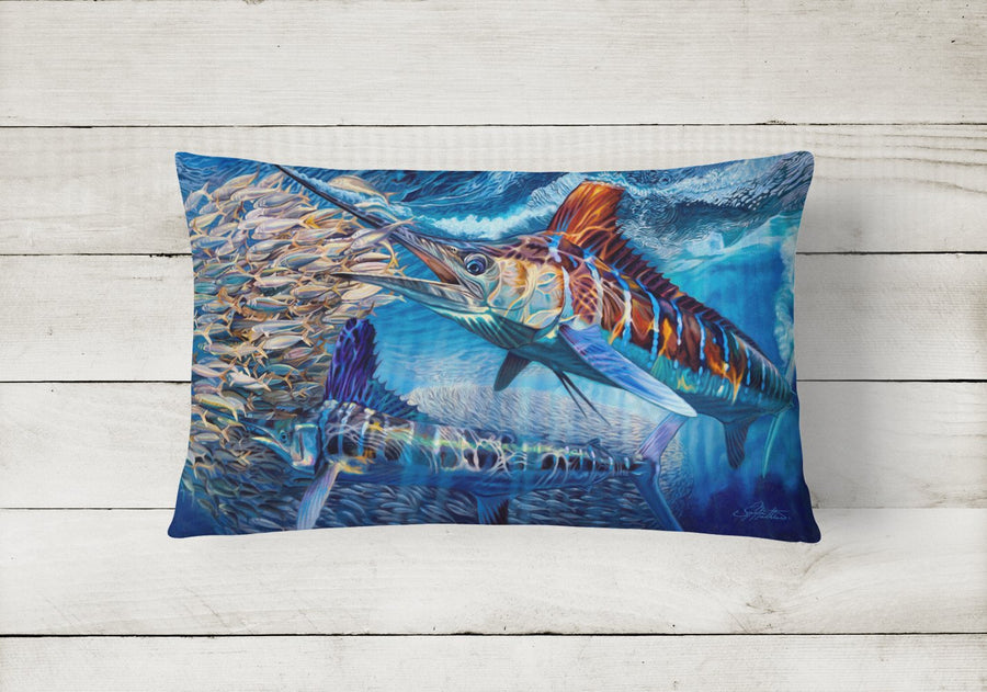 Buy this White Night White Marlin Canvas Fabric Decorative Pillow JMA2008PW1216