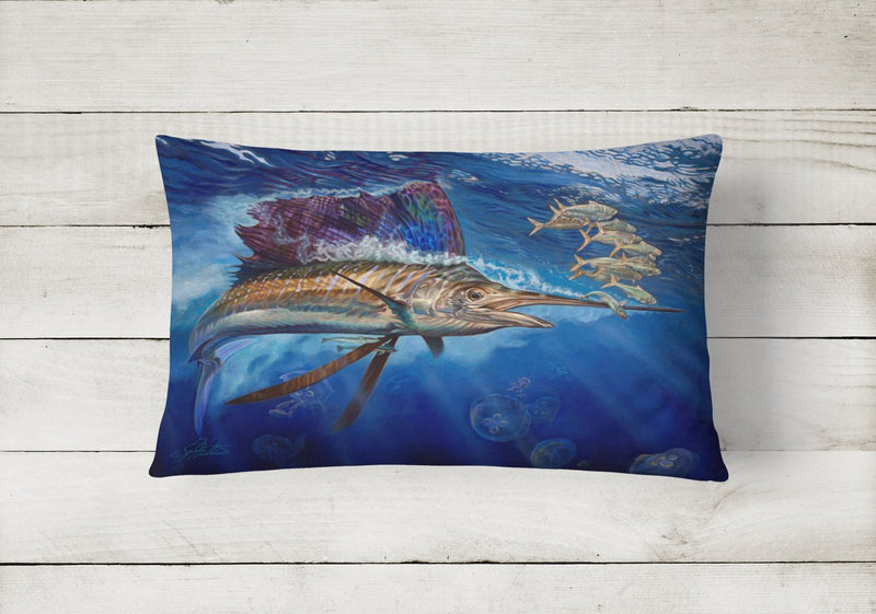 Buy this Majesty Sailfish Canvas Fabric Decorative Pillow JMA2010PW1216