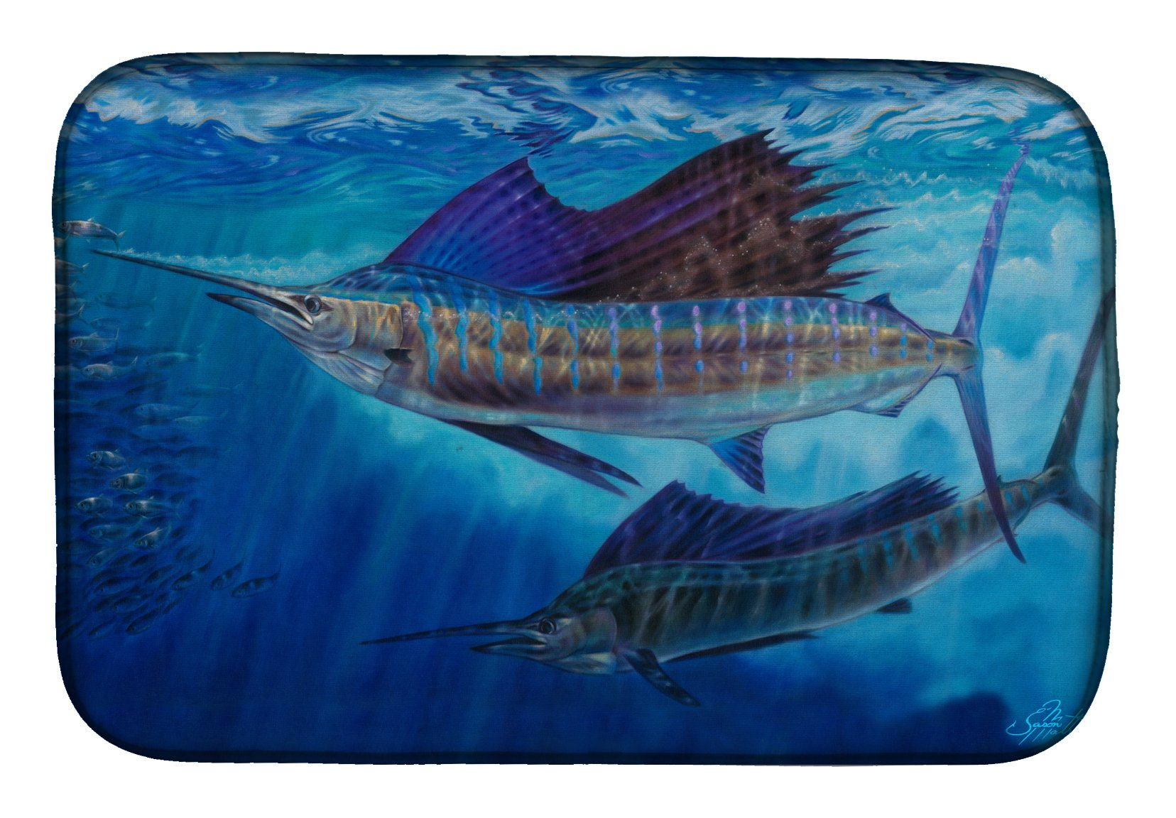 Buy this Wide Open Sailfish Dish Drying Mat JMA2011DDM