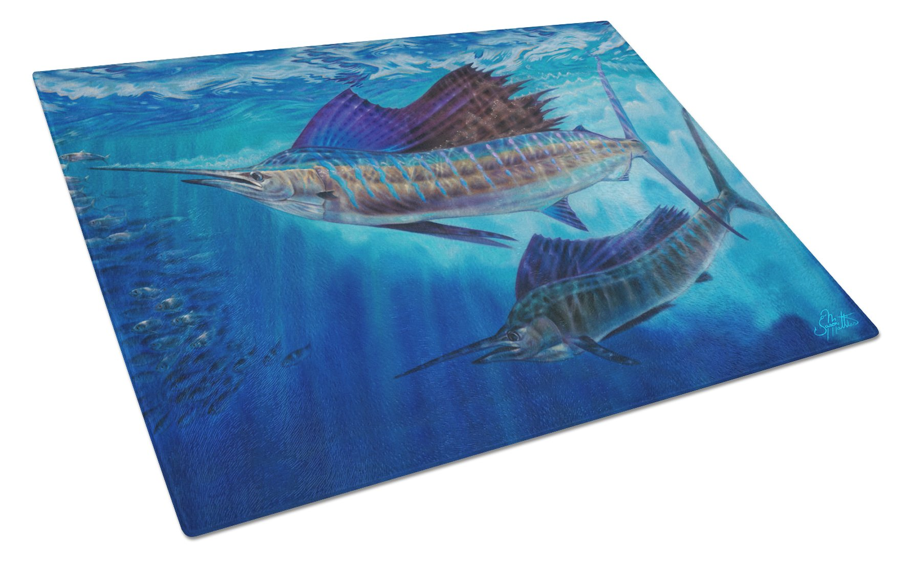Buy this Wide Open Sailfish Glass Cutting Board Large JMA2011LCB