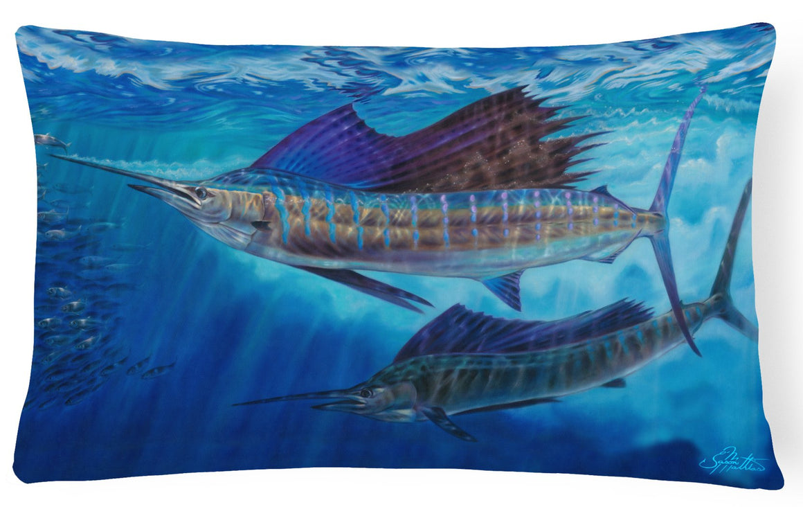 Buy this Wide Open Sailfish Canvas Fabric Decorative Pillow JMA2011PW1216