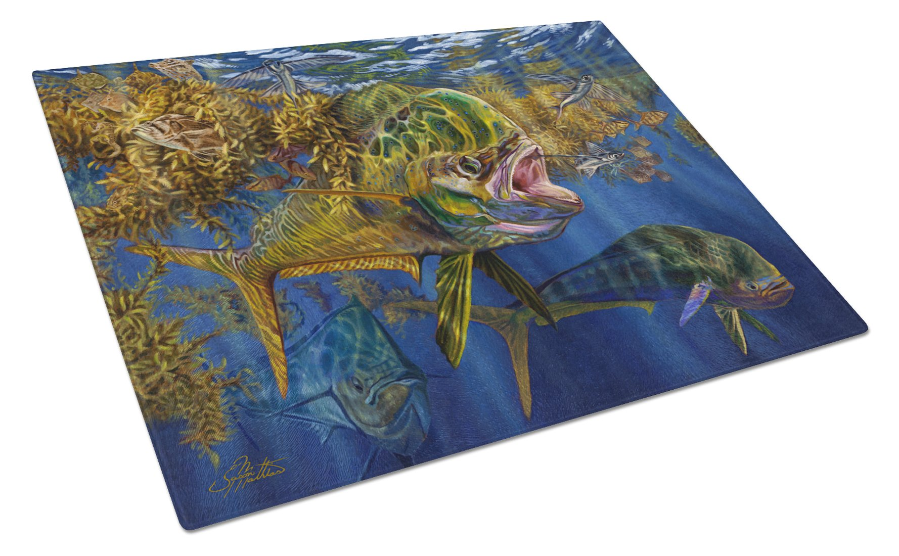 Buy this Seaweed Salad Mahi Glass Cutting Board Large JMA2013LCB