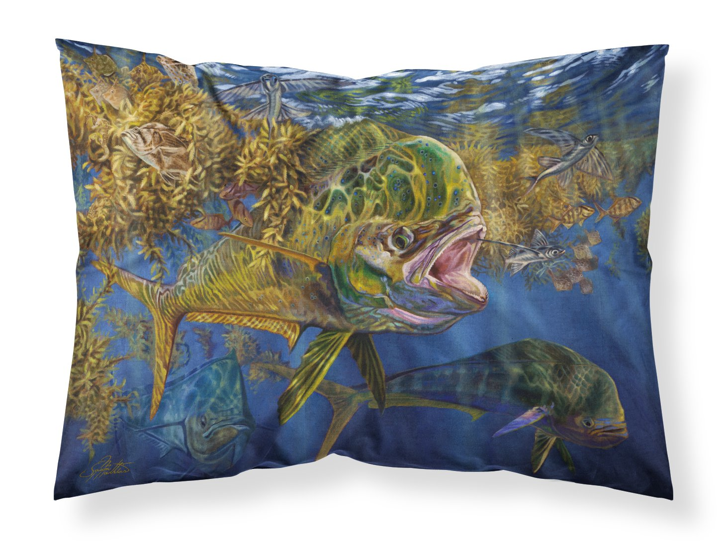 Seaweed Salad Mahi Fabric Standard Pillowcase JMA2013PILLOWCASE by Caroline's Treasures