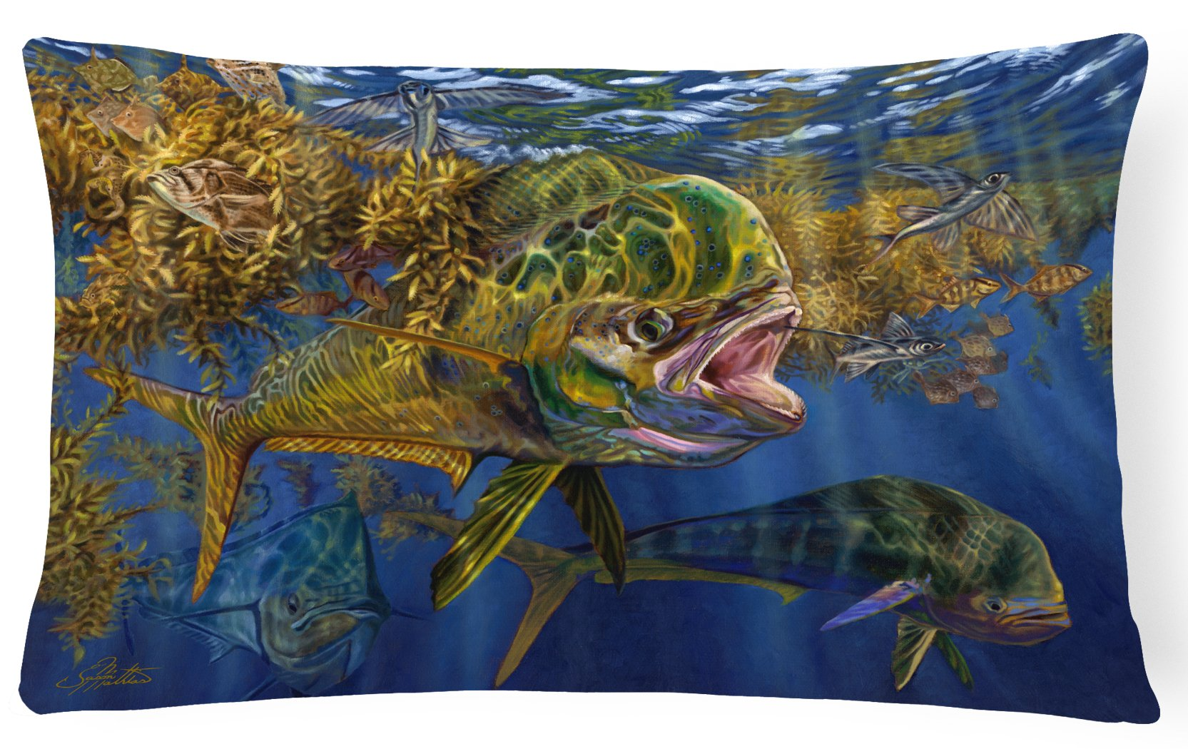 Buy this Seaweed Salad Mahi Canvas Fabric Decorative Pillow JMA2013PW1216