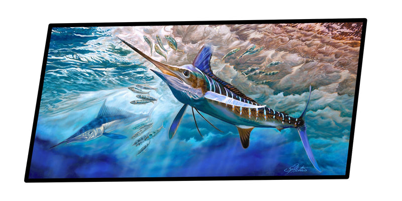Buy this White Rabbit Blue Marlin Indoor or Outdoor Runner Mat 28x58 JMA2015HRM2858