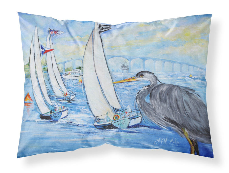 Buy this Blue Heron Sailboats Dog River Bridge Fabric Standard Pillowcase