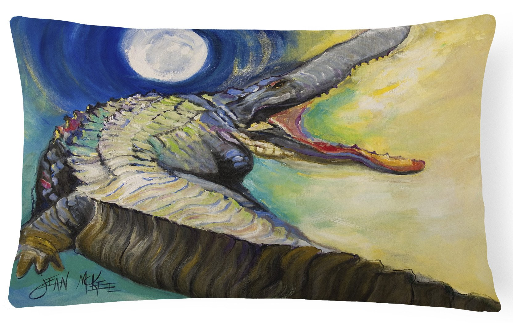 Alligator Canvas Fabric Decorative Pillow JMK1004PW1216 by Caroline's Treasures