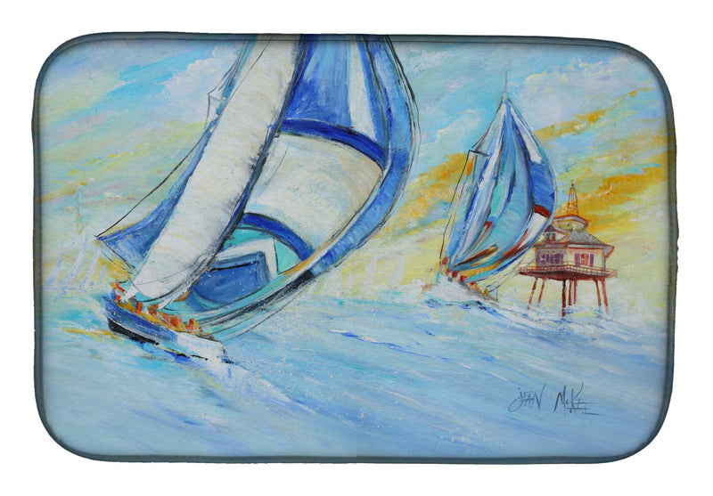 Buy this Sailboats and Middle Bay Lighthouse Dish Drying Mat JMK1005DDM
