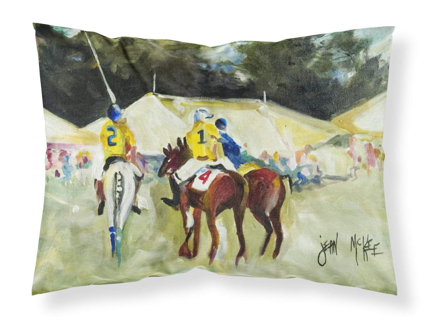 Polo at the Point Fabric Standard Pillowcase JMK1006PILLOWCASE by Caroline's Treasures