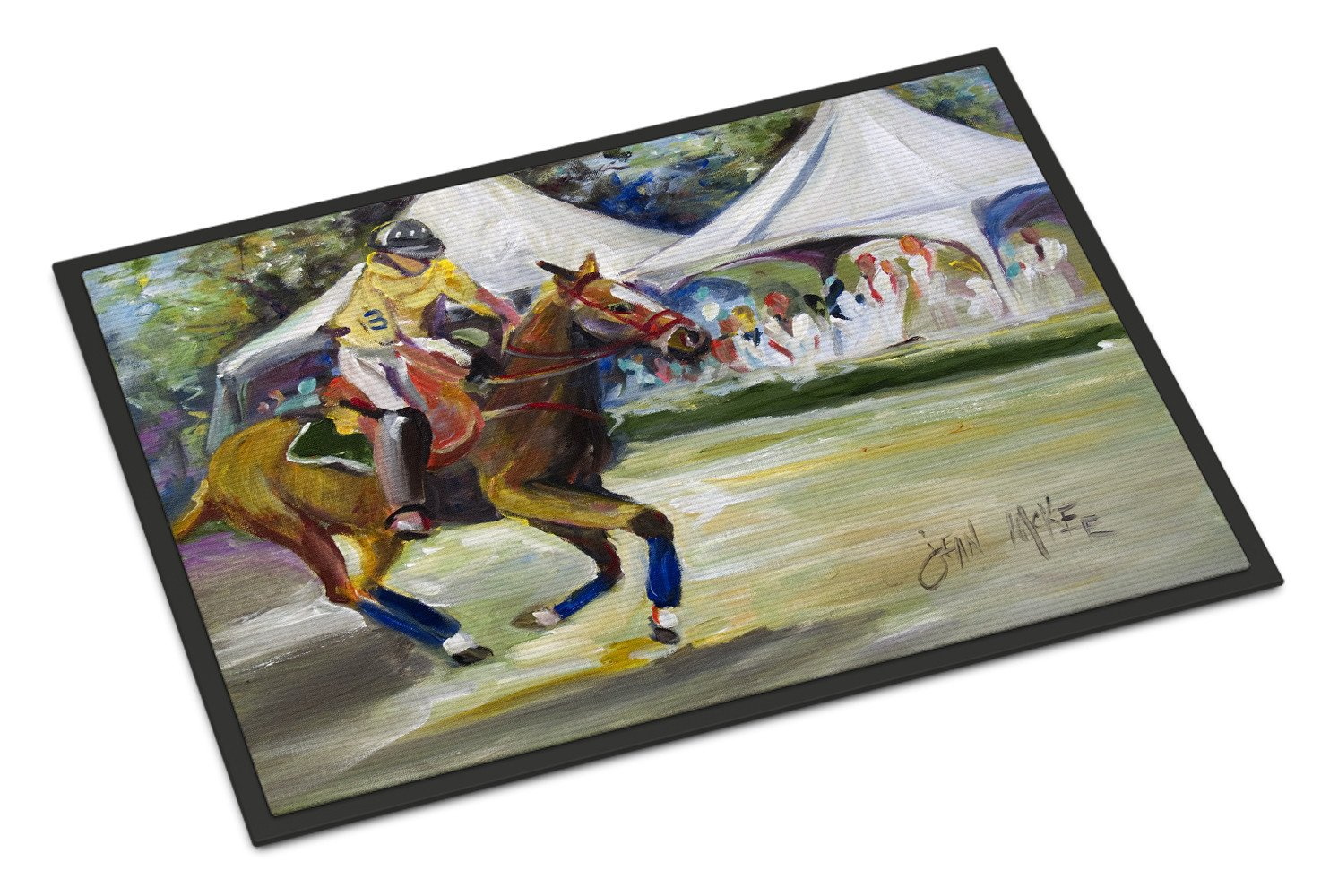 Polo at the Point Indoor or Outdoor Mat 24x36 JMK1008JMAT by Caroline's Treasures