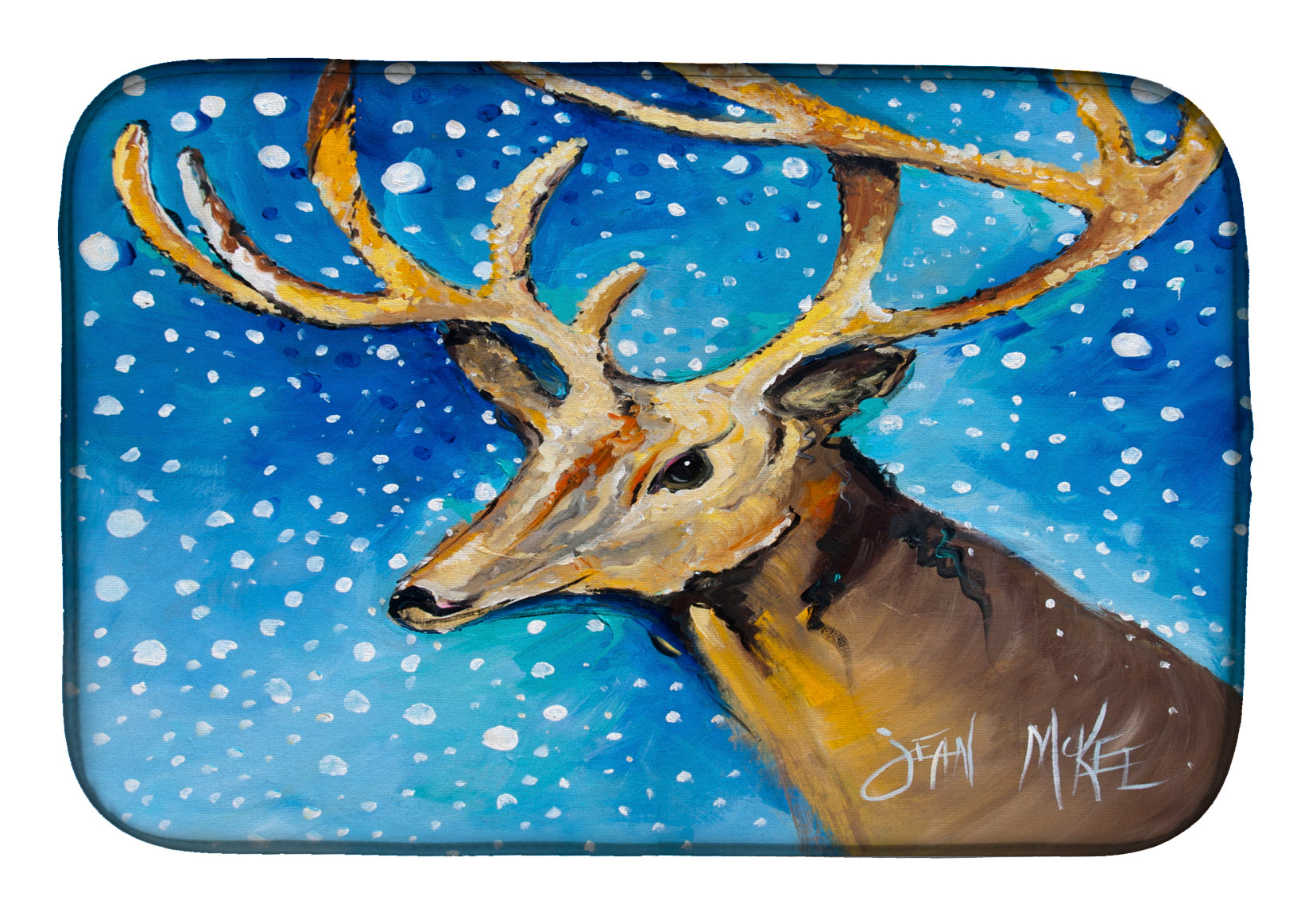 Buy this Reindeer Dish Drying Mat JMK1009DDM