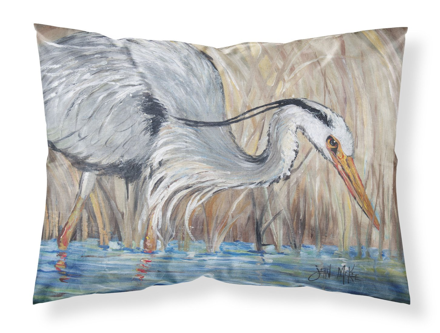 Buy this Blue Heron in the reeds Fabric Standard Pillowcase JMK1013PILLOWCASE