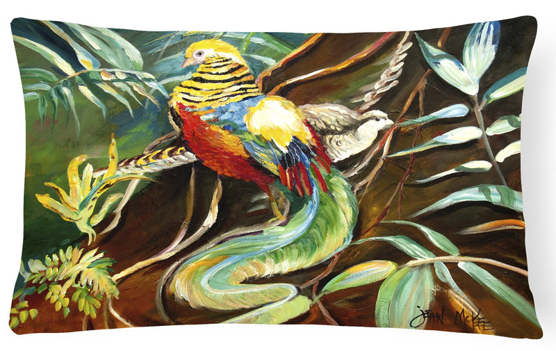 Buy this Mandarin Pheasant Canvas Fabric Decorative Pillow JMK1014PW1216