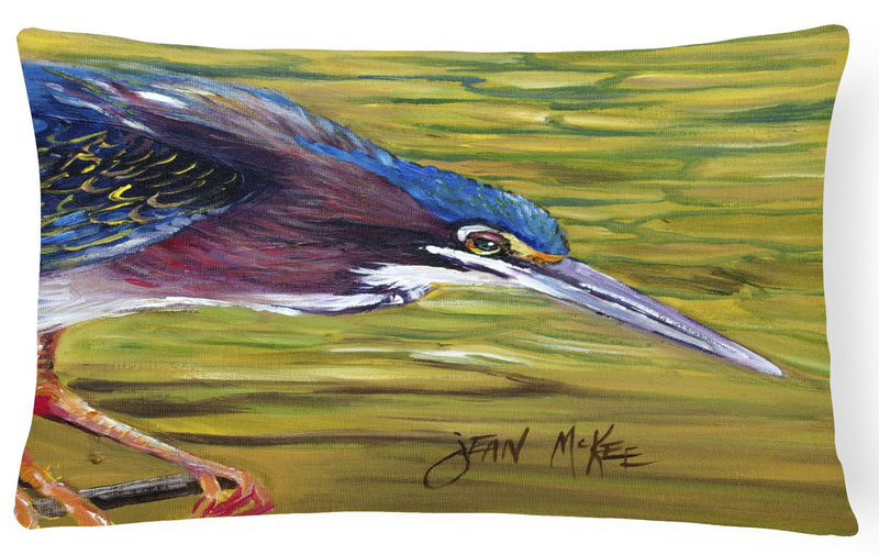 Buy this Green Heron Canvas Fabric Decorative Pillow JMK1016PW1216