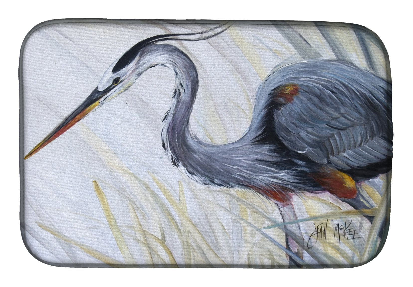 Buy this Blue Heron Frog hunting Dish Drying Mat JMK1017DDM