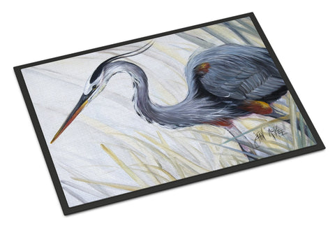 Buy this Blue Heron Frog hunting Indoor or Outdoor Mat 24x36 JMK1017JMAT
