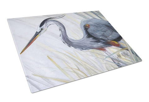 Buy this Blue Heron Frog hunting Glass Cutting Board Large JMK1017LCB