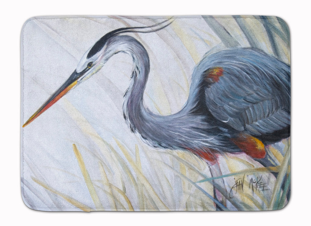 Buy this Blue Heron Frog hunting Machine Washable Memory Foam Mat JMK1017RUG
