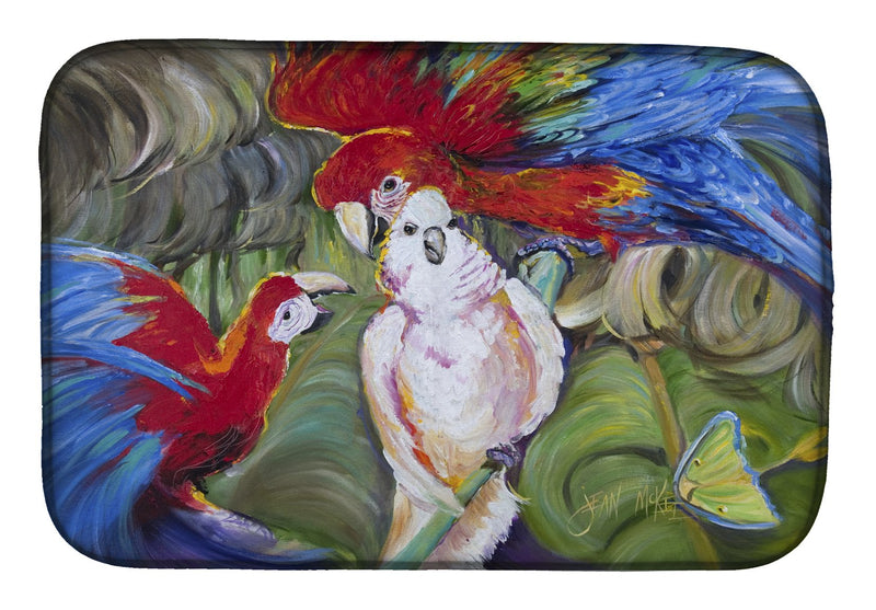 Buy this Menage-a-trois Parrots Dish Drying Mat JMK1018DDM
