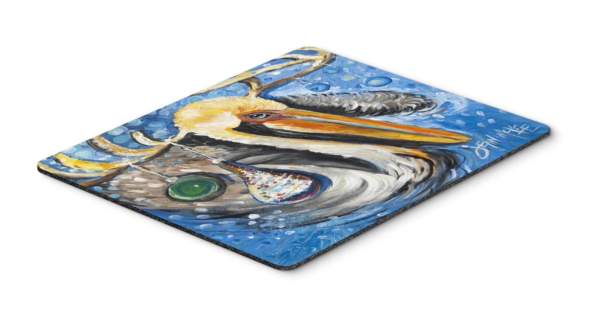 Buy this Pelican Dressed as a Reindeer Mouse Pad, Hot Pad or Trivet JMK1020MP