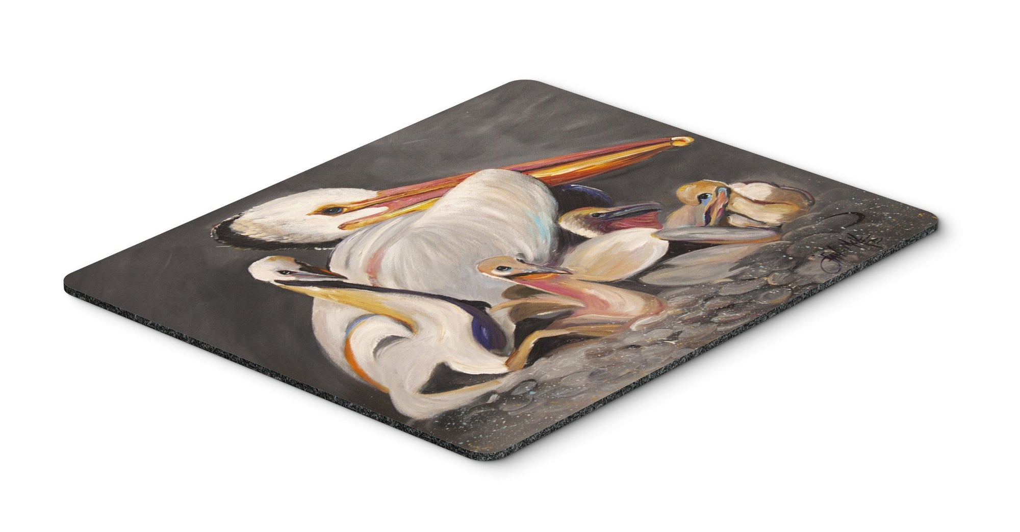 White Pelicans Mouse Pad, Hot Pad or Trivet JMK1026MP by Caroline's Treasures