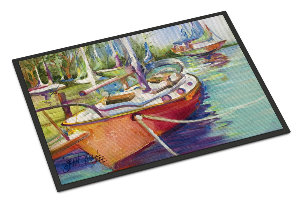 Buy this Red Sailboat Indoor or Outdoor Mat 24x36 JMK1028JMAT