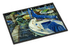 Night on the Docks Sailboat Indoor or Outdoor Mat 24x36 JMK1031JMAT - the-store.com