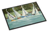 Sailboats on the bay Indoor or Outdoor Mat 24x36 JMK1035JMAT - the-store.com