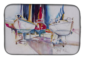 Buy this Sailboats in Dry Dock Dish Drying Mat JMK1039DDM