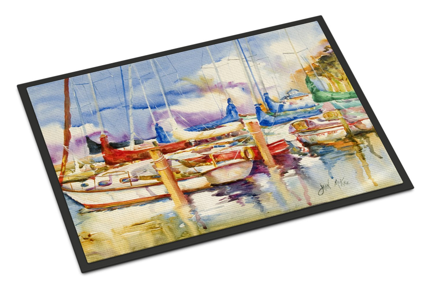 End Stall Sailboats Indoor or Outdoor Mat 24x36 JMK1049JMAT by Caroline's Treasures