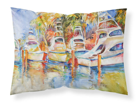 Buy this Deep Sea Fishing Boats at the Dock Fabric Standard Pillowcase JMK1052PILLOWCASE