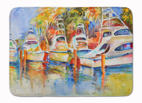 Buy this Deep Sea Fishing Boats at the Dock Machine Washable Memory Foam Mat JMK1052RUG
