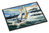 Sailboats on Lake Martin Indoor or Outdoor Mat 24x36 JMK1055JMAT - the-store.com
