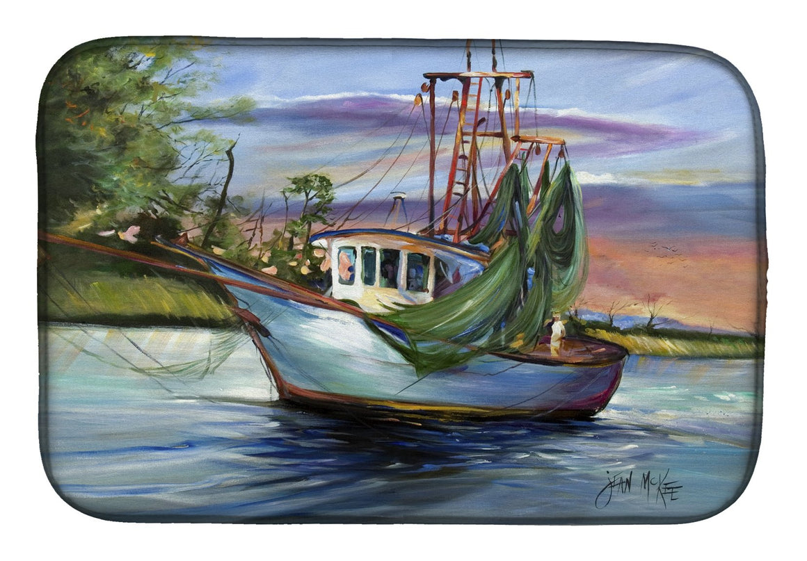 Buy this Jeannie Shrimp Boat Dish Drying Mat JMK1059DDM
