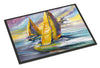 Sailboat with Middle Bay Lighthouse Indoor or Outdoor Mat 24x36 JMK1061JMAT - the-store.com