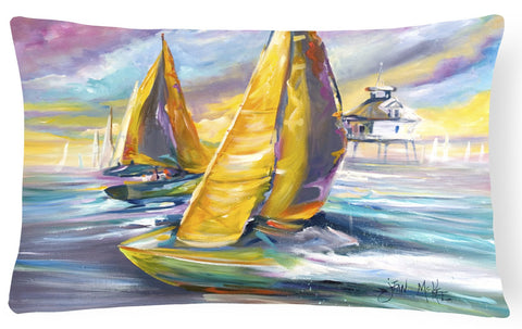 Buy this Sailboat with Middle Bay Lighthouse Canvas Fabric Decorative Pillow