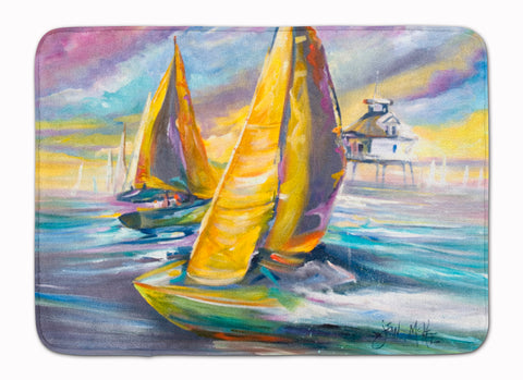 Buy this Sailboat with Middle Bay Lighthouse Machine Washable Memory Foam Mat JMK1061RUG