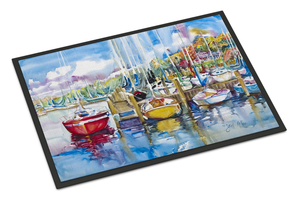 Buy this Paradise Yacht Club Sailboats Indoor or Outdoor Mat 24x36 JMK1063JMAT