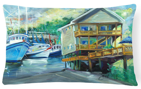 Buy this Ocean Springs Harbour Landing Canvas Fabric Decorative Pillow JMK1069PW1216