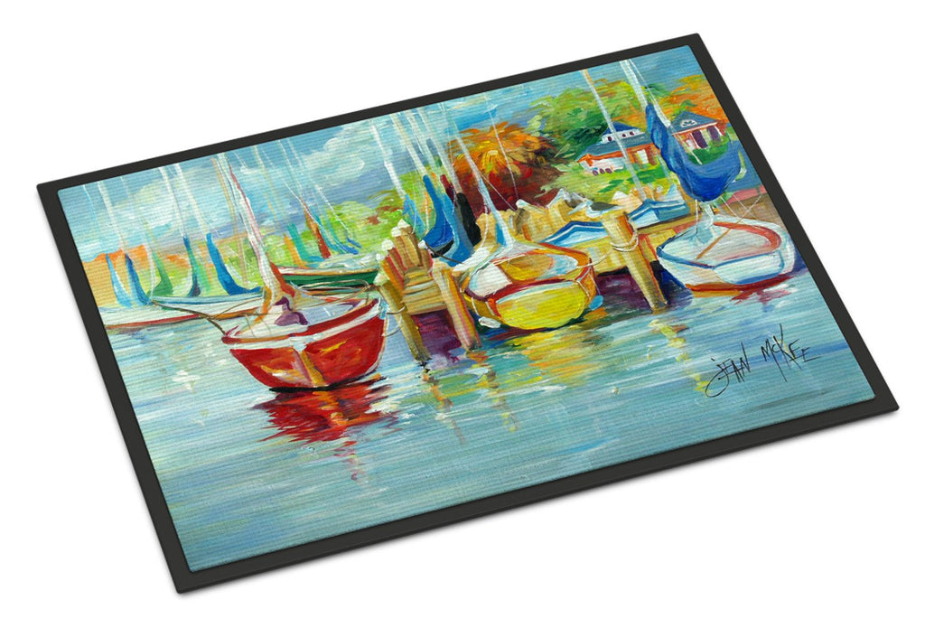 Buy this On the Dock Sailboats Indoor or Outdoor Mat 18x27 JMK1070MAT