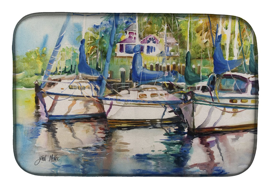 Buy this Safe Harbour Sailboats Dish Drying Mat JMK1071DDM