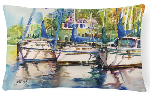 Buy this Safe Harbour Sailboats Canvas Fabric Decorative Pillow JMK1071PW1216