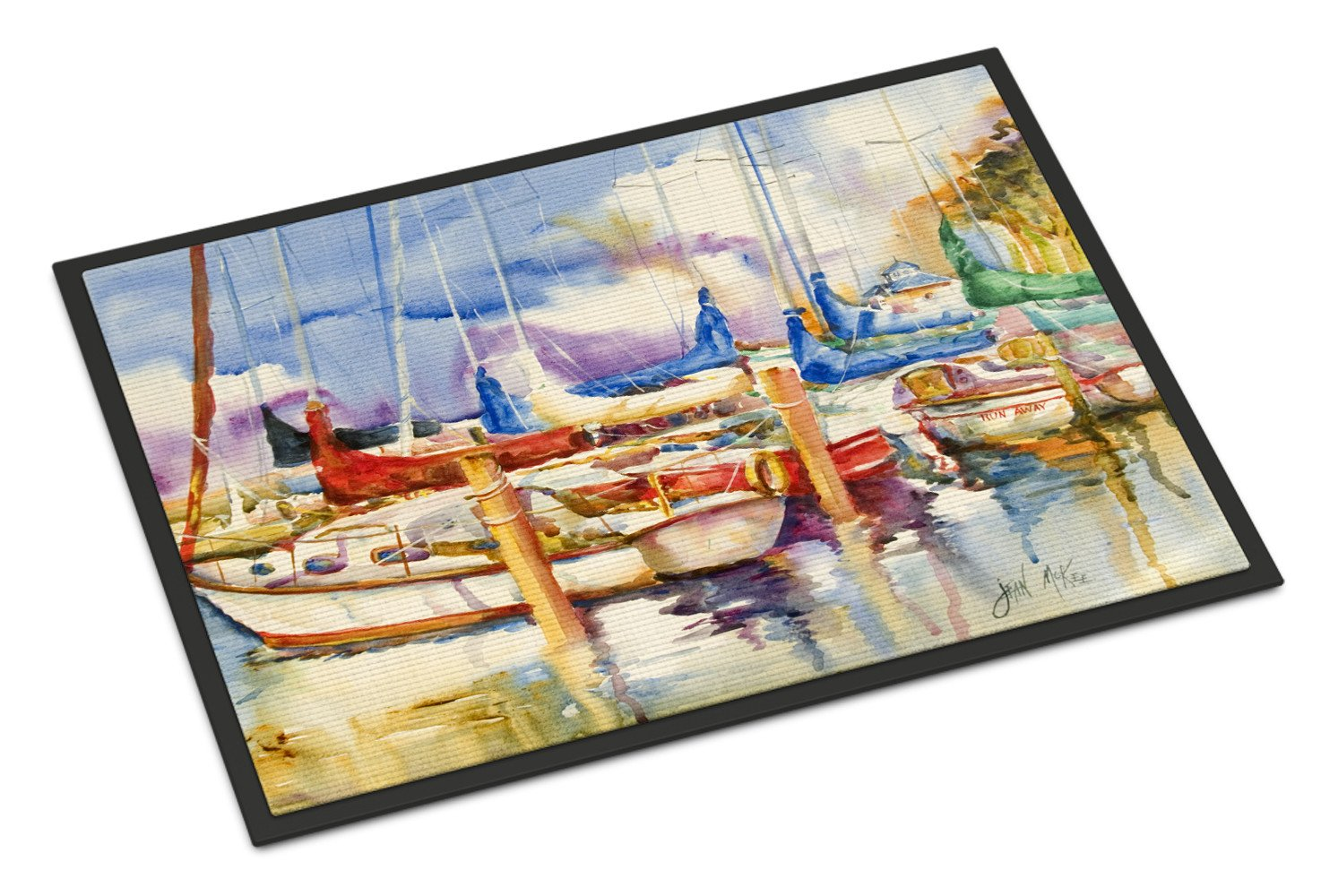 Run Away Sailboats Indoor or Outdoor Mat 24x36 JMK1072JMAT by Caroline's Treasures