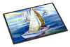 Rock my Boat Sailboats Indoor or Outdoor Mat 24x36 JMK1073JMAT - the-store.com